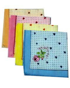 Hi Charlie Pack of 4 - Handkerchief Set - Multicolor