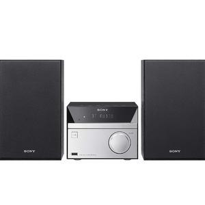 Hi-Fi System with CD, Bluetooth, DAB and FM Radio - Black/Silver