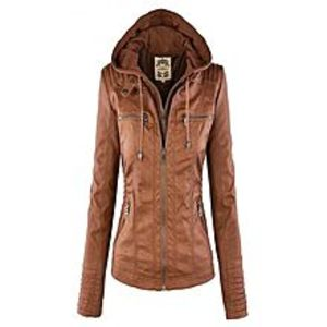TASHCO Clothing New Women's Brown Suede Leather Jacket