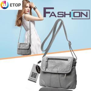 Lady Lightweight Crossbody Bags for Women Small Purses Zipper Travel Bags Soft Shoulder Bags