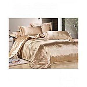 My Home StoreGolden Silk Bedsheet Set - S-03