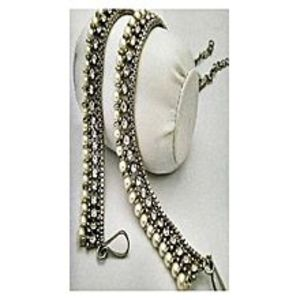saharcollection4uGolden & White Metal Anklets For Women