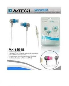 A4TECH MK650 - Earphones - Blue (Brand Warranty)