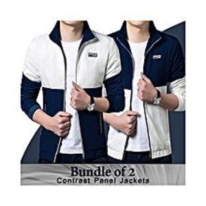 AybeezPack Of 2 - Black & Navy Blue Cotton Panel Jacket