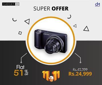 Samsung 21.6 MP TFT LCD Display 3.7 inch Digital Camera - EV-NX2000