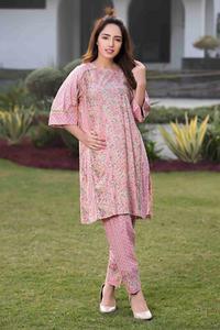 SITARA STUDIO Sapna Collection 2019 Multicolor Lawn 2PC Unstitched Suit For Women - 6107 A  (Un-stitched)