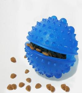 Plastic Treat Dispensing Toy Ball for Dogs - 09 cm - Blue