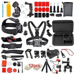 12Pcs/set for Gopro Camera Outdoor Sports Bundle Kit Set Accessories