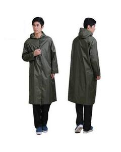Long raincoats for men and women motorcycles long single windbreaker raincoat Green Parachute Rain Coat Suit
