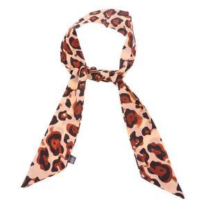 VAKIND  Leopard Printed Scarf Ladies Stripe Small Silk Handkerchief Bag Scarves