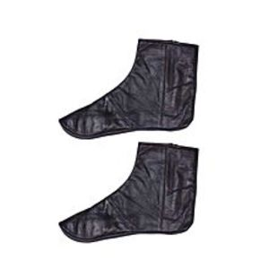 AT Collection Black Leather Socks For Men & Women