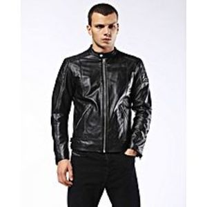 TASHCO Clothing Men's Black Suede Leather Jacket