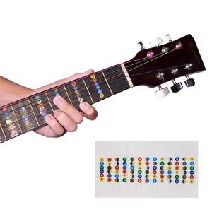 Guitar Fretboard Notes Map Labels Sticker Fingerboard Fret Decals For 6 String Phonetic Acoustic Guitar Accessories