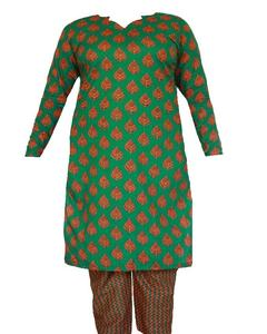 Green Lawn Printed Kurta & Trouser For Women