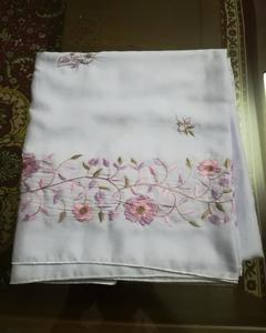 White Color - Shawl - Embroidery Work - Free Size