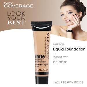 MISS ROSE Face Matte Liquid Concealer Foundation  – BEIGE 02