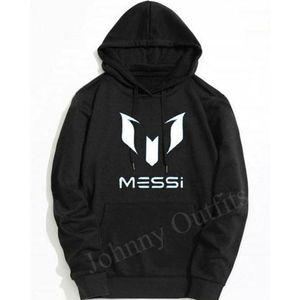 Black Messi Printed Hoodie. GNL-KH07