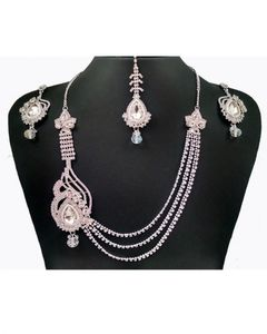 Bindas Collection Silver Alloy Jewellery Set For Women