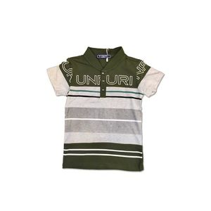 Green Cotton Jersey Polo Shirt