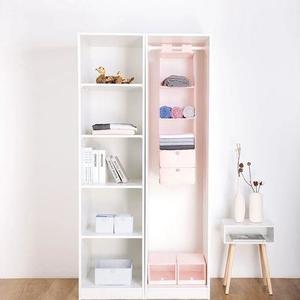 Xiaomi Mi Home Hanging Storage Bag 5 Layers Natural Household Closet Organizer   - Pink