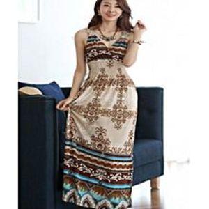 Lovers DressElegant Wrapped - Neck Summer - Maxi Dress