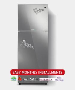 PEL INVERTER CURVED GLASS DOOR Series Top Mount Refrigerator - PRINVOGD 2350 - 240 L - Pattern Mirror Impression