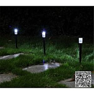 Flair 2Pcs High Quality Waterproof Solar Lamps Garden Lawn lightings