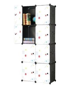 Diy 8 Cubes Elegant Black Stripes Storage Cabinet