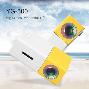 YG300 YG - 300 LCD Projector Full HD 1080P Mini Portable Home Theather Cinema LED Projector For Video Media Player (N)