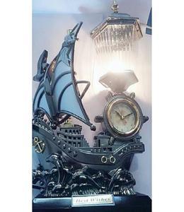 Beautiful Table Boat Lamp Clock