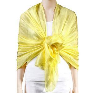 Women Xmas Gift Large Solid Soft Silky Bridal Evening Wedding Scarf Shawl Wrap