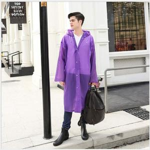 Impermeable Women Men Long Raincoat Female Windbreaker Transparent  Waterproof  Rain Coat.