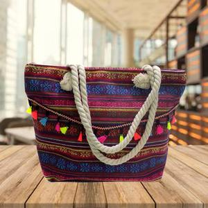 Multicolored Ladies Hand Bags Cultural Bags For Women