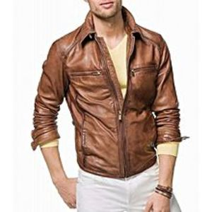 Sheikh Leather Men Sheep Leather Jacket