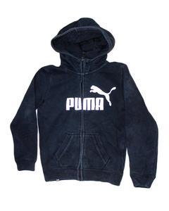 Stylish Black Printed Zipper Hoodie Jacket for Boy