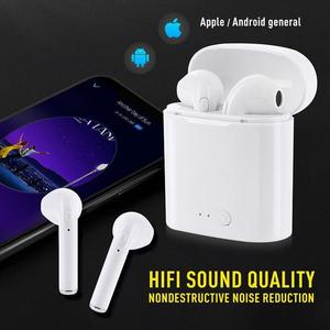 WPAIER I7S TWS Bluetooth Headphones Portable Wireless Earphones With Charging Box bluetooth headsets Universal type TWS