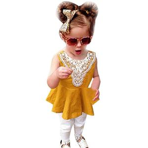 Toddler Kids Baby Girl Princess Dress Lace Dresses+Headband Outfits Clothes Set