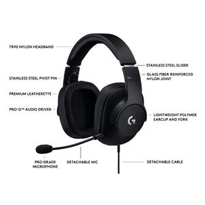 Logitech G Pro Gaming Headset with Pro Grade Mic for Pc, PC VR, , Xbox One, Playstation 4, Nintendo Switch