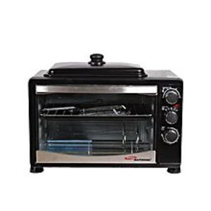 Gaba NationalGNO-1538 - 38lte - Electric Oven with Hot Plate - Black (Brand Warranty)