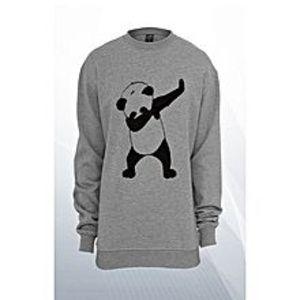 JstyleGrey Fleece Panda Dab Sweatshirt For Women
