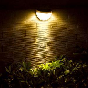 Loskii 6 LED Solar Power Wall Light Outdoor Garden Waterproof Security Lamp