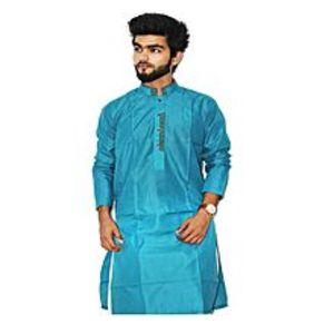 khareeedlopkSky Blue Stitched Cotton Kurta For Men