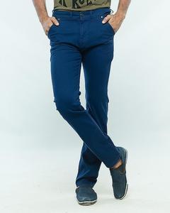 Blue Slim Fit Stretchable Cotton Jeans for Men