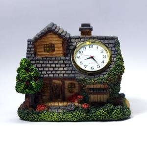 Antique Table Desk Clock Showpiece Poly stone Hand Painted Gifts