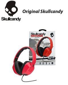 Original Crusher Heavy Bass With Amplifier & Mic Headphones / Over Ear Headphones- Red & Black