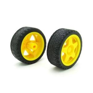 Pack Of 2 - Wheels For Robot Base Diy Robotics And Arduino