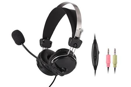 A4TECH HEADPHONES WITH STICK MIC COMFORTFIT STEREO HEADSET (HS-7P)