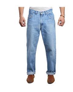 Blue Washed Denim Jeans For Men