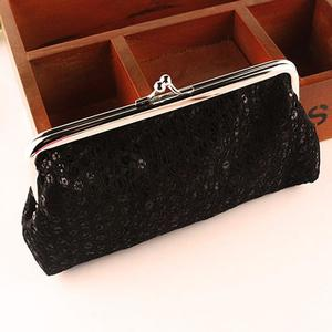 FashionieStore Woman's wallet Bag New Women Lovely Style Lady Wallet Hasp Sequins Purse Clutch Bag White