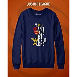 TJ FASHION Justice League Printed Sweatshirt Shirt For Men